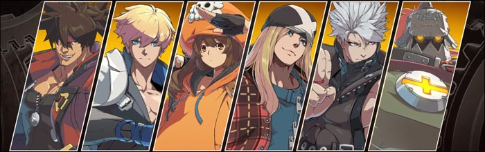 The arcade demo will feature six playable characters for Guilty Gear -Strive-: Sol, Ky, May, Axl, Chipp, and Potemkin.