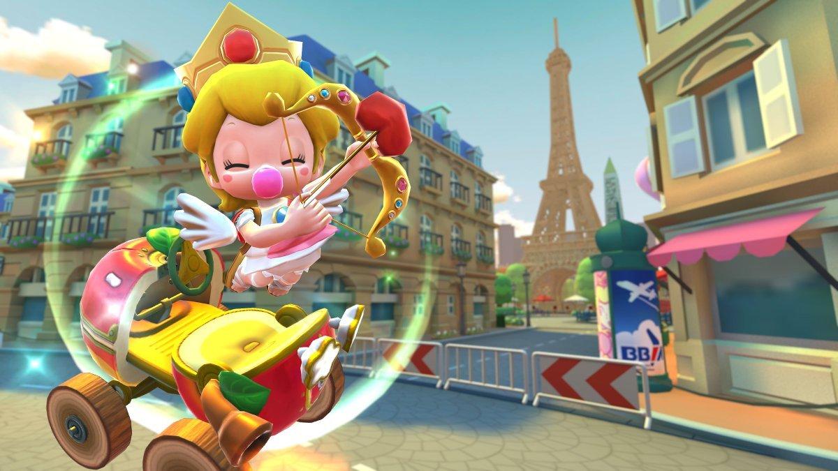 Mario Kart Tour - Valentine Tour - Baby Peach Cherub - New Driver - Shy Guy