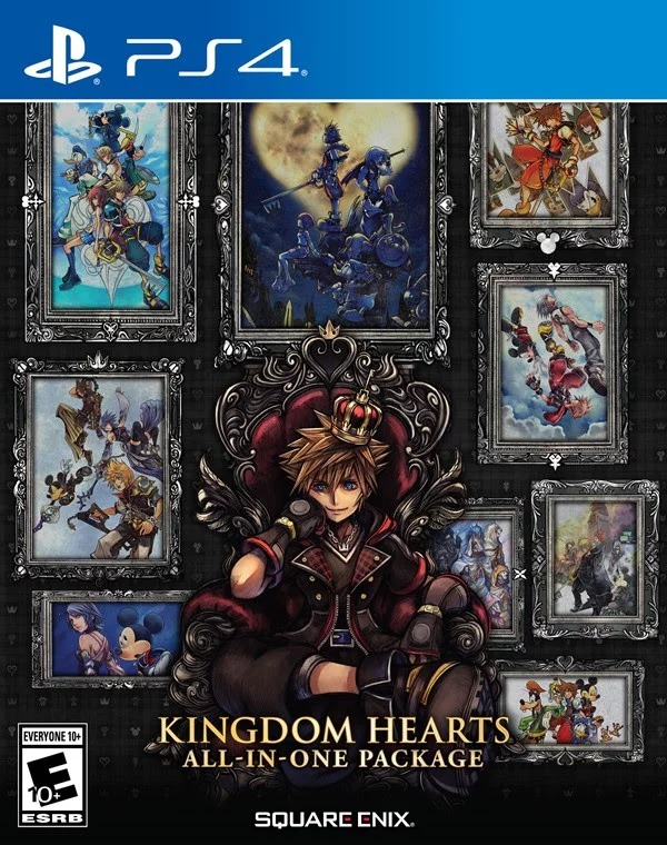 The Kingdom Hearts All-in-One Package includes three PlayStation 4 releases in the series: Kingdom Hearts HD 2.8 Final Chapter Prologue, and Kingdom Hearts III.
